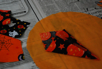 No Sew Halloween Candle Mat - Step 1