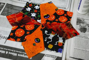 No Sew Halloween Candle Mat - Step 3