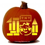 Halloween Angry Birds Stencil – Pig (King)