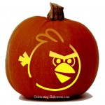 Halloween Angry Birds Stencil – Red Bird