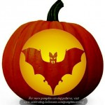 Halloween Bat Stencil – Free Pumpkin Carving Stencil/Pattern