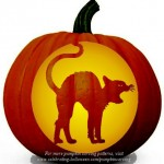 Halloween Cat Stencil – Free Pumpkin Carving Stencil/Pattern