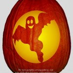 Friendly Ghost Stencil – Free Pumpkin Carving Stencil/Pattern