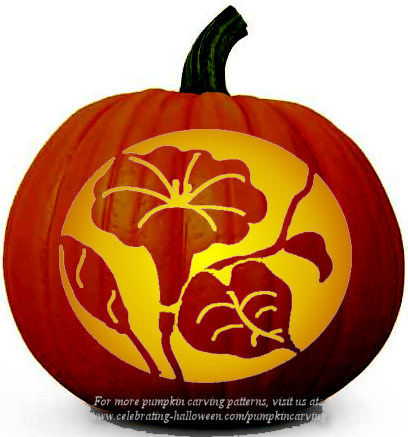 Lily Flower - Free Pumpkin Carving Pattern
