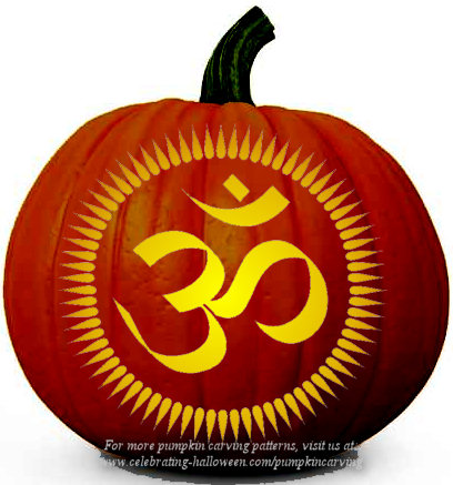 om pumpkin carving pattern