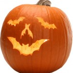 Pumpkin Face Carved with Bat Motifs – Pumpkin Carving Ideas for Halloween