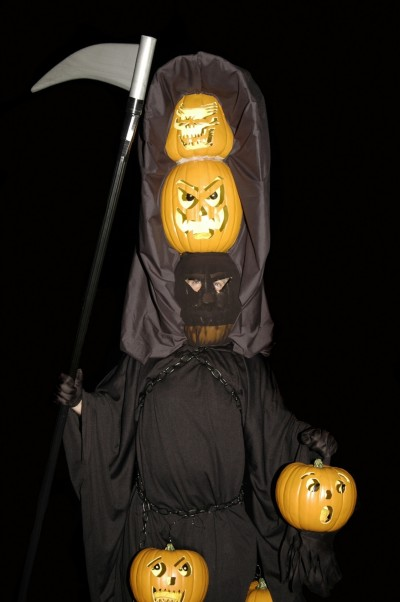 scary pumpkin character - outdoor halloween decoration