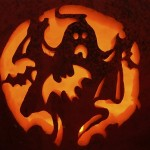 Ghost Pumpkin Carving Pattern – Pumpkin Carving Ideas for Halloween
