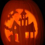 Haunted House Pumpkin Carving Pattern – Pumpkin Carving Ideas for Halloween
