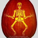 Skeleton Stencil – Free Pumpkin Carving Stencil/Pattern