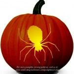 Halloween Scary Spider Stencil – Free Pumpkin Carving Stencil/Pattern