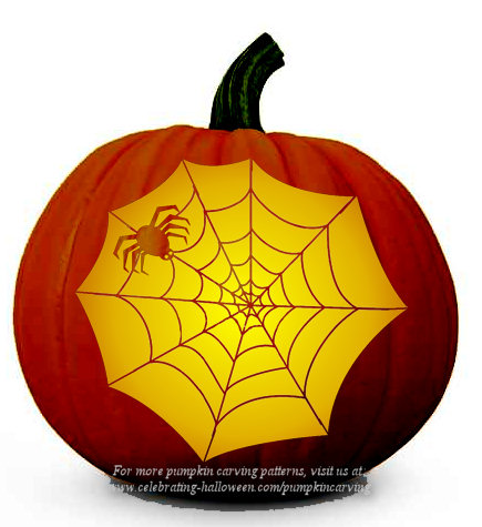 Spider's Web Pattern – Free Pumpkin Carving Pattern