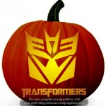 Halloween Transformers Stencil – Free Pumpkin Carving Stencil/Pattern