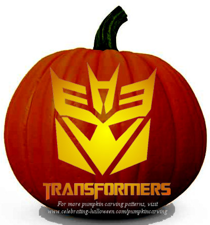 transformers pumpkin carving pattern
