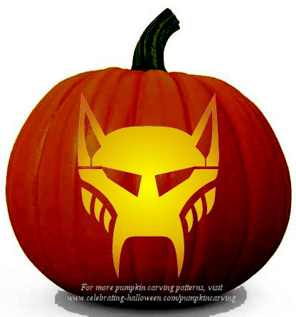 Halloween Transformers Stencil 10 - Free Pumpkin Carving Stencil/Pattern