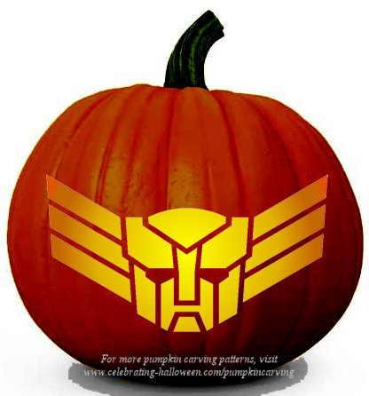 Halloween Transformers Stencil 11 - Free Pumpkin Carving Stencil/Pattern
