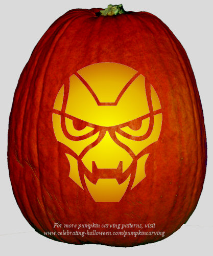 Halloween Transformers Stencil 12 - Free Pumpkin Carving Stencil/Pattern