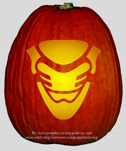 Halloween Transformers Stencil 13 - Free Pumpkin Carving Stencil/Pattern