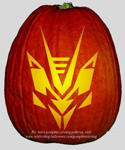 Halloween Transformers Stencil 14 - Free Pumpkin Carving Stencil/Pattern