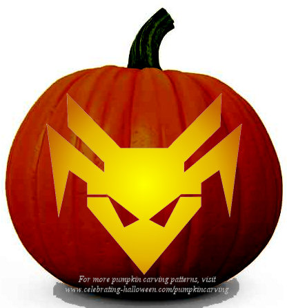 Halloween Transformers Stencil 16 - Free Pumpkin Carving Stencil/Pattern