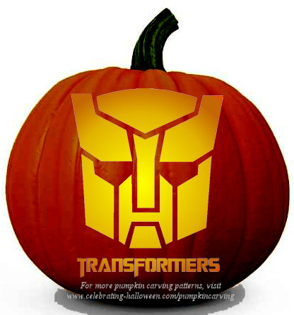 transformers pumpkin carving stencil 2