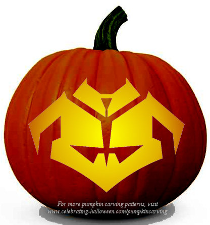 Halloween Transformers Prime Stencil 5 - Free Pumpkin Carving Stencil/Pattern