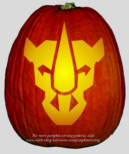 Halloween Transformers Stencil 6 - Free Pumpkin Carving Stencil/Pattern