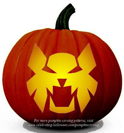 Halloween Transformers Prime Stencil 7 - Free Pumpkin Carving Stencil/Pattern