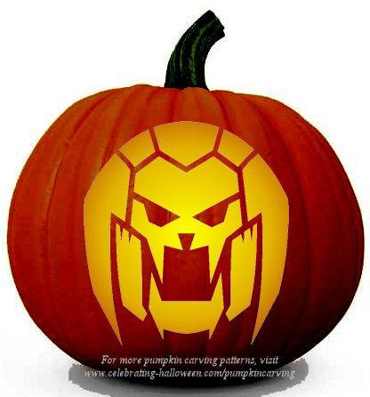 Halloween Transformers Stencil 8 - Free Pumpkin Carving Stencil/Pattern
