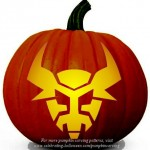 Halloween Transformers Stencil 9 – Free Pumpkin Carving Stencil/Pattern