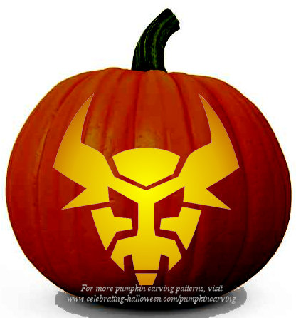 Halloween Transformers Stencil 9 - Free Pumpkin Carving Stencil/Pattern