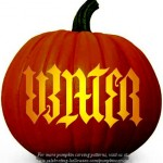 Halloween Water Ambigram Stencil – Free Pumpkin Carving Stencil/Pattern