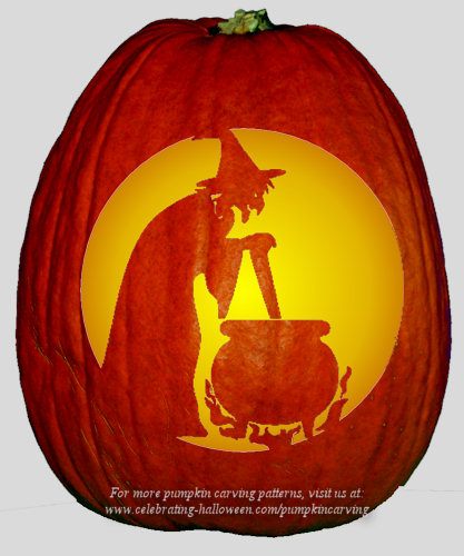 witch cauldron pumpkin pattern
