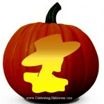 Woman with Hat Pumpkin Pattern – Free Pumpkin Carving Pattern