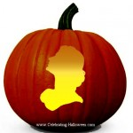 Woman Head Silhouette – Free Pumpkin Carving Pattern