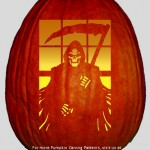 The Grim Reaper Pumpkin Carving Pattern