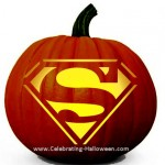 Superman Pumpkin Carving Stencil
