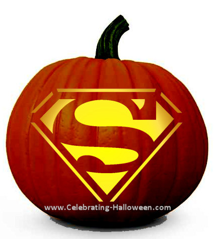 Superman Shield Pumpkin Carving Stencil