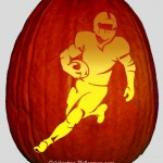 Running NFL/Football Player Pumpkin Carving Stencil
