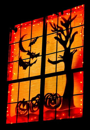 Halloween Window Silhouettes Party Decorations