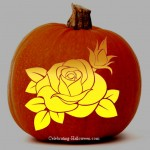 Rose Pumpkin Carving Stencil
