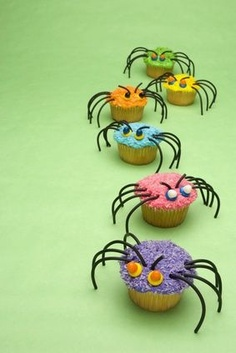 Halloween Daddy Longlegs Spider Cupcakes