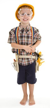 DIY Handy Man Kids Halloween Costume