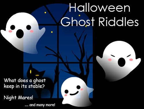 Halloween Ghost Riddles for SMS, Facebook and Whatsapp Status etc.