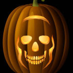 Skull Pumpkin Carving Pattern