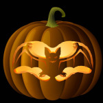Spooky Bat Pumpkin Carving Pattern