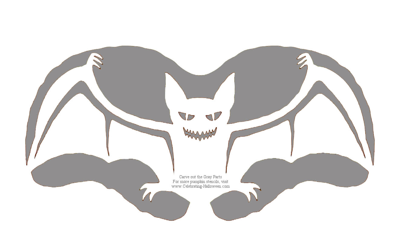 Spooky Bat Pumpkin Carving Pattern – Celebrating Halloween