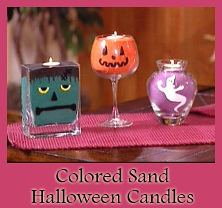 DIY Colored Sand Halloween Candles