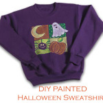 DIY Spider and Ghost Halloween Sweatshirt