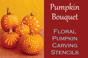 Pumpkin Bouquet - Floral Pumpkin Carving Stencils